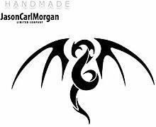 JCM ¨ Eisen auf Transfer Aufkleber, Tribal Dragon schwarz