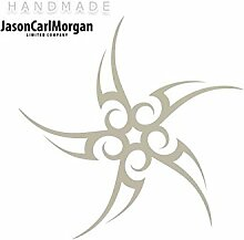 JCM ¨ Eisen auf Transfer Aufkleber, Tribal Stern silber