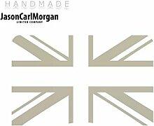 JCM ¨ Eisen auf Transfer Aufkleber, Union Jack silber