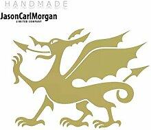JCM ¨ Eisen auf Transfer Aufkleber, walisischer Drache Gold