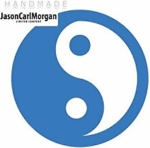 JCM ¨ Eisen auf Transfer Aufkleber, Yin Yang Sky Blau