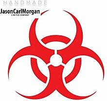 JCM ¨ zum Aufbügeln Aufkleber Biohazard Red