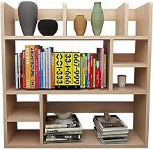 JCNFA Desktop-Regal Bücherregal Aus Massivem Holz