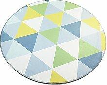 JCOCO Geometrische runden Teppich