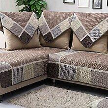 JCXT Baumwolle Gesteppte Sofa-Abdeckung Slipcover,