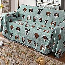 JCXT Sofa-Abdeckung Decke, Baumwolle gestrickter