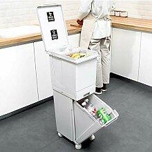 JDBDYA 40L Mülleimer Trennsystem Küche Mit