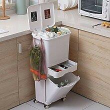 JDBDYA Küche Abfalleimer, 42L Küche Mit Deckel