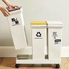 JDBDYA Mülleimer 3 Fach Sortierer Mülltrenner