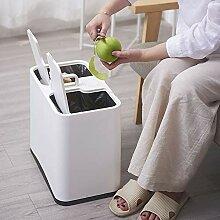 JDBDYA Mülleimer für die Küche, 2-in-1
