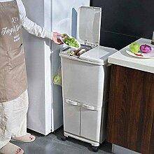 JDBDYA Mülleimer Trennsystem Küche Mit Deckel