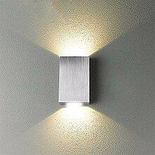 JDFM5 Aluminium, warmes Licht Wandlampe Innen