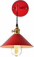 JDFM5 Farbiges Schmiedeeisen, rot Wandlampe Innen