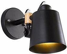 JDFM5 Holz Macaron, schwarz Wandlampe Innen Design