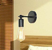 JDFM5 Industrieller Windschmiedeeisen Wandlampe