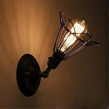 JDFM5 Kleine eiserne Käfigwandleuchte Wandlampe