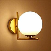 JDFM5 LED runde Wandleuchte, Gold Wandlampe Innen