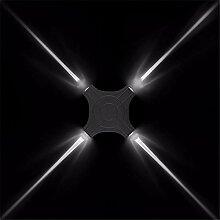 JDFM5 Schwarzes Aluminium, weißes Licht Wandlampe