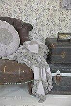 Jeanne d'Arc Living Grannydecke Quilt Patchwork Tagesdecke Tischdecke Rose (Lavendel)