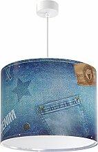 Jeans Hängeleuchte 42712 Hosen Lampe Kinderzimmer Leuchte Kinderzimmerlampe
