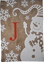 JEC Home Goods Home Garden Flagge Monogramm Winter
