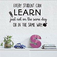 Jeder kann lernen, Wandaufkleber Klassenzimmer
