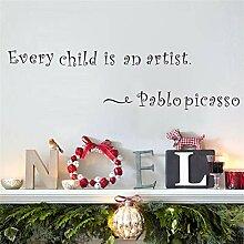 Jedes Kind Ist Ein Künstler Buchstaben Vinyl