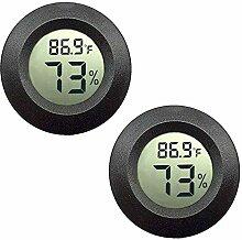 JEDEW 2-Pack Mini Hygrometer Feuchtigkeitsuhr