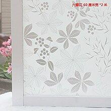 Jedfild Selbstklebende Milchglas film wc Badezimmer windows Aufkleber balkon Schiebetür Licht undurchsichtigen Sonnenschutz Fenster Aufkleber, Sternschlitz, 60 cm/2 m