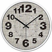 Jedfild Stilvolle und kreative Künste Wanduhr home Möbel Uhr sauber, minimalistischen format-table Quarzuhr, 12 Zoll, schwarz-weisse Feld