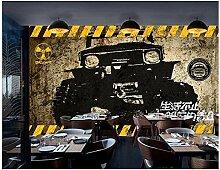 Jeep Auto Gebrochene Wand 3D Persönlichkeit