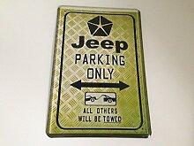 Jeep parking only - Blechschild 20x30 cm 4x4 Parkplatz Garage Carport Schild 15