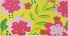 Jellybean Blumen auf gelb Memory Foam Teppich