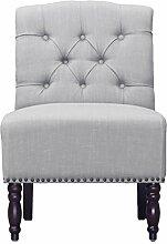 Jellywood® MCRAL Barock Polster Sitzbank mit Rückenlehne /Lounge-Sessel ohne Armlehnen, dicke Polsterung mit Federung Sitzhöhe 45 cm Grau (Cloud Grey)