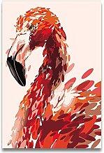 jemdshen DIY Flamingo Familienbilder Ölgemälde