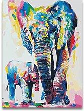 jemdshen Tierwelt Zwei Elefanten DIY Gemälde