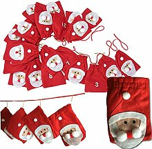 JEMIDI Adventskalender Kette Weihnachtsmänner XL