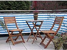 JEMIDI Balkon - Sichtschutz 600 x 75cm Balkonschutz Sichtschutz Geländerschutz Balkon Windschutz Balkonverkleidung Sonnenschutz Sichtschutzmatte Blau/Weiß