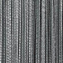 JEMIDI Fadenvorhang Tür Vorhang Gardine Schal