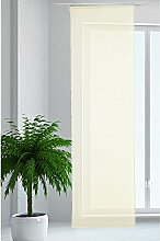 JEMIDI Flächenvorhang Transparent Flächen Vorhang Schiebevorhang Schiebegardine Gardine Creme