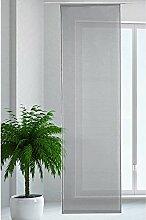 JEMIDI Flächenvorhang Transparent Flächen Vorhang Schiebevorhang Schiebegardine Gardine Dunkelgrau