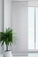 JEMIDI Flächenvorhang Transparent Flächen Vorhang Schiebevorhang Schiebegardine Gardine Hellgrau