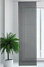 JEMIDI Flächenvorhang Transparent Flächen Vorhang Schiebevorhang Schiebegardine Gardine (Schwarz)