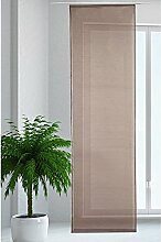 JEMIDI Flächenvorhang Transparent Flächen Vorhang Schiebevorhang Schiebegardine Gardine (Dunkelbraun)