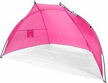 JEMIDI Strandmuschel Strandzelt Sonnenschutz Sonnenzelt Sonnenschutz Strand Muschel Zelt Camping 218cmx 115cm (Pink)