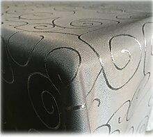 JEMIDI Tischdecke Ornamente Seidenglanz Edel Tisch Decke Tafeldecke 31 Größen und 7 Farben Grau 160x220