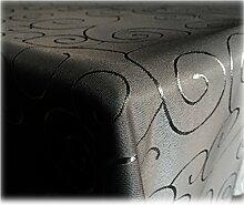 JEMIDI Tischdecke Ornamente Seidenglanz Edel Tisch Decke Tafeldecke 31 Größen und 7 Farben Schwarz Rund160cm