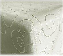 JEMIDI Tischdecke Ornamente Seidenglanz Edel Tisch Decke Tafeldecke 31 Größen und 7 Farben Campagner 135x200