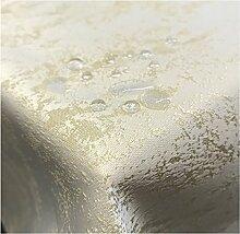 JEMIDI Tischdecke Stofftischdecke melierter Glanz Optik und Lotus Effekt Tafeldecke Tischdecken Decke Tisch Gartentischdecke Champagner 135cm x 180cm