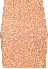 JEMIDI Tischläufer Ornamente Seidenglanz Edel Tisch Decke Tafeldecke Läufer Tischband Band Apricot Tischläufer 170cm x 40cm